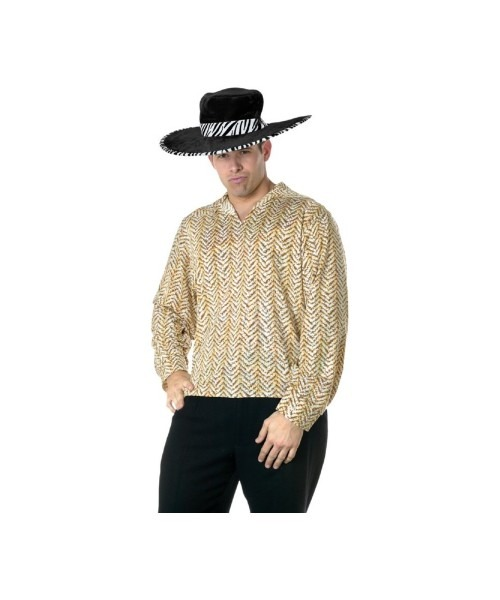 Pimp Gold Shirt Adult Costume