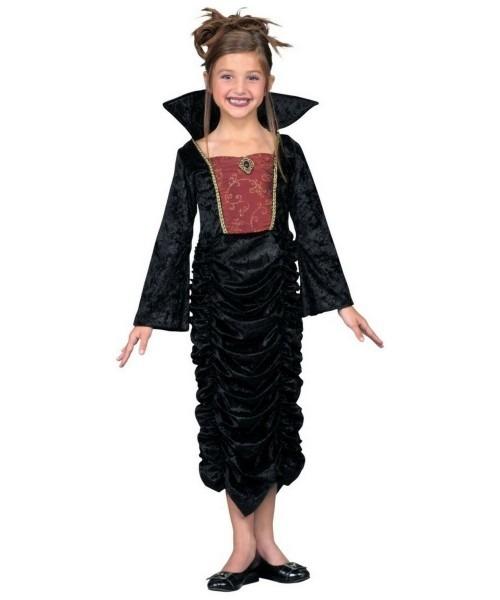 Gothic Vampire Queen Kids Halloween Costume