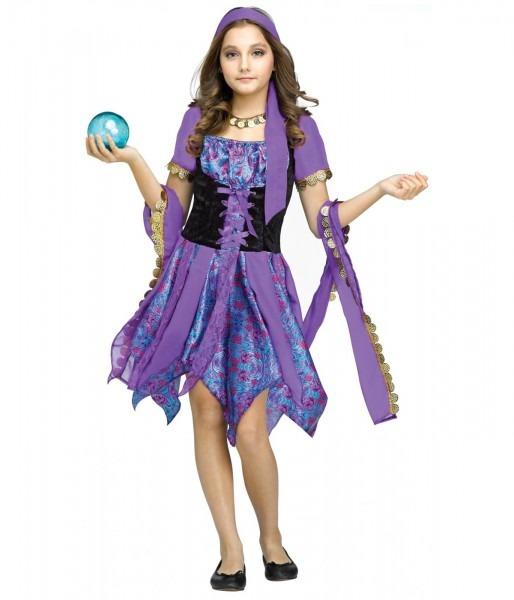 38 Gypsy Costumes For Teens, Womens Fortune Gypsy Costume Mr