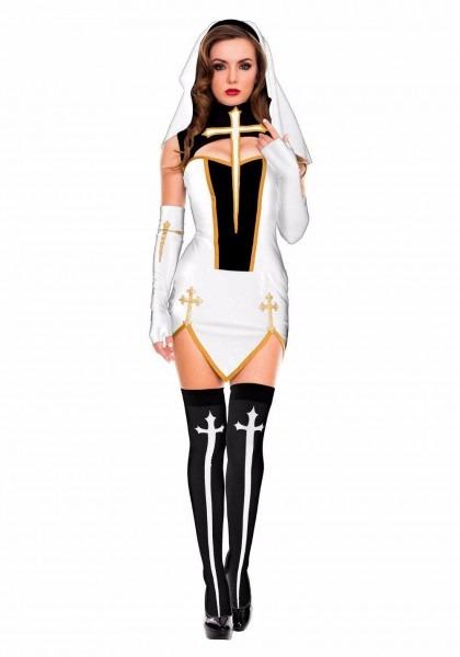 Halloween Costume Women Y Nun Sister European Religious Preacher