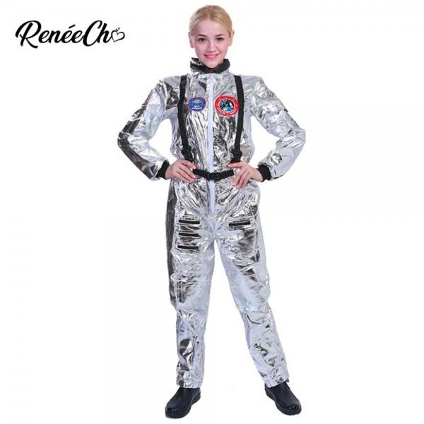 Halloween Costumes For Women Astronaut Costume Adult Sliver
