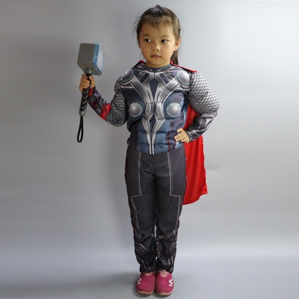 Halloween Kids Boys Girls Thor Costume Cosplay The Avengers Muscle
