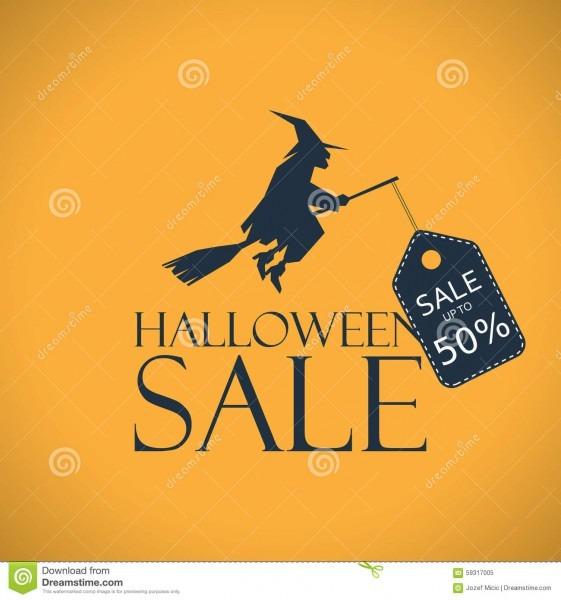 Halloween Sale Background  Seasonal Clearance Stock Vector