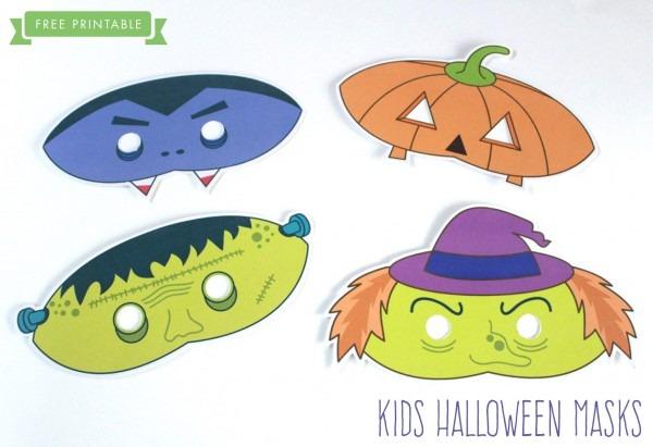Free Printable  Halloween Kids Masks