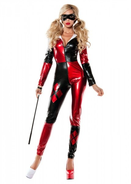 Classic Harley Quinn Catsuit Womens Costume