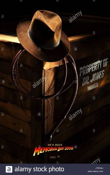 Hat & Whip Movie Poster Indiana Jones And The Kingdom Of The
