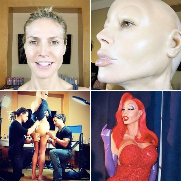 See Heidi Klum's Insane Jessica Rabbit Halloween Costume