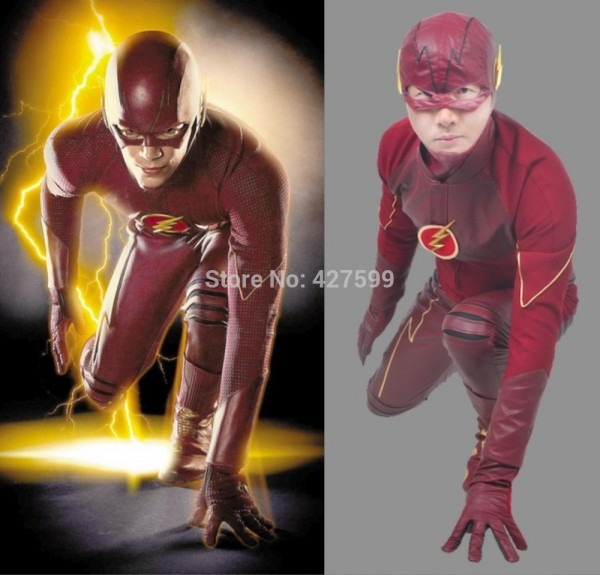 Hot Moive The Flash Cosplay Costume Halloween Costume Men's