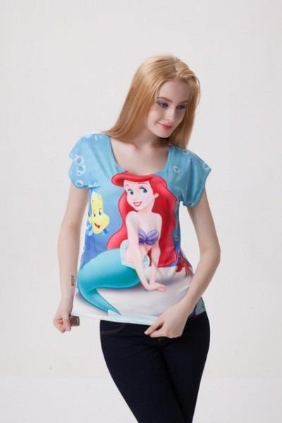 Hot Sale 2014 Women T Shirt Woman Tshirt Finding Nemo Mermaid