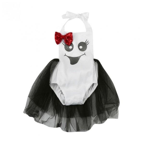 Baby Girl Ghost Sparkle Romper,boo Tutu Romper,girls First