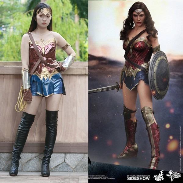 X Costume Pu Leather Suit Wonder Woman Dc Comic Superhero Anime