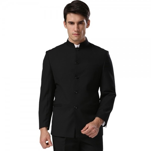Men Suit Sets Chinese Tunic Suits Stand Collar Classic Elegance