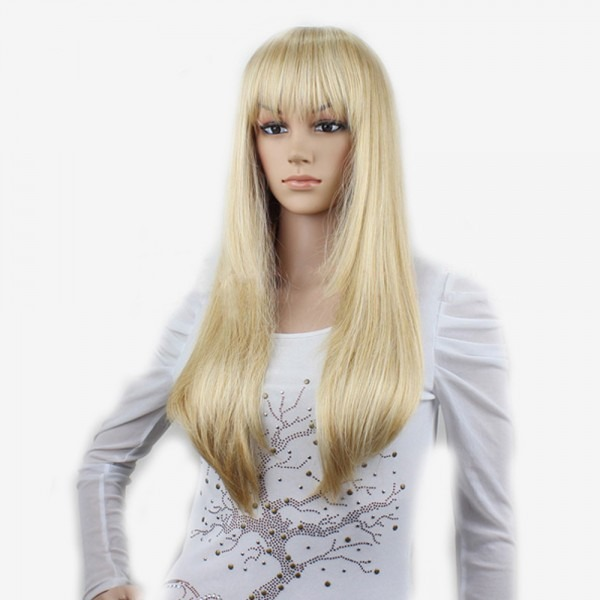 Buy Cheap Good Quality Synthetic Long Straight Women Platinum