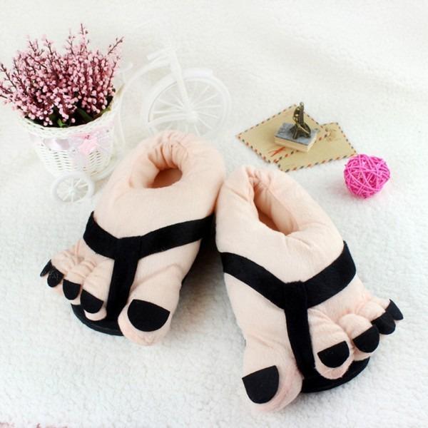 Slippers Novety Print Feet Indoor Home Flip Flop Funny Cosplay