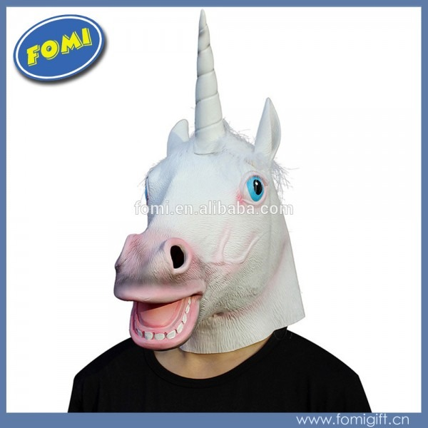Hot Sale Halloween Horse Head White Unicorn Animal Head Mask For