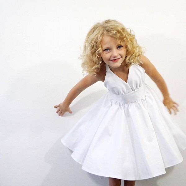 Toddler Marilyn Monroe White Dress