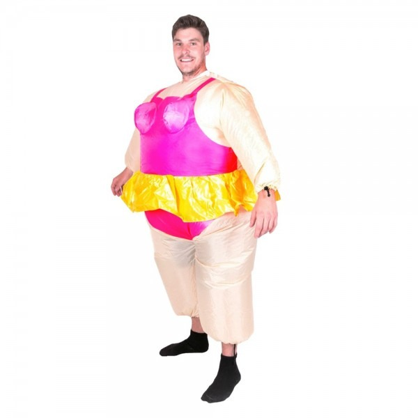 Inflatable Ballerina Costume Funny Party Blow Up Halloween Suit
