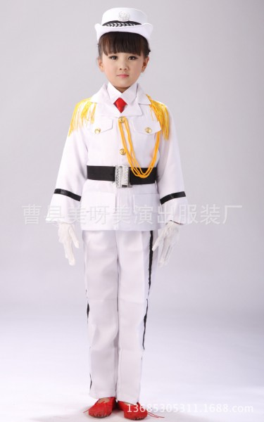 Kids Boys Girls Captain Navy Seaman Sailor Wwii Fancy Dress