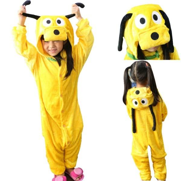 Kids Pluto Dog Onesies Kigurumi Hoodie Animal Pyjama Costume