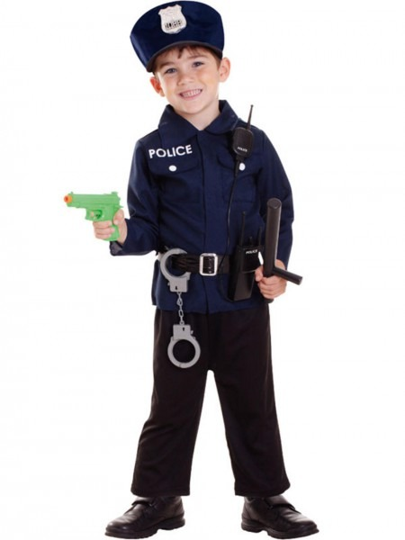 Kids Policeman Costume Radio Set Boys Police Uniform, Policeman