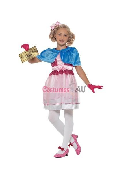 Kids Roald Dahl Veruca Salt Girls Costume Charlie Chocolate