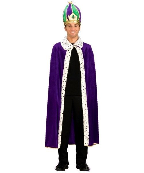 Adult King Robe And Crown Halloween Costume