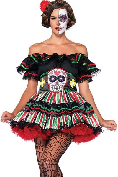 Sexy Day Of The Dead Costume, Sugar Skull Costume