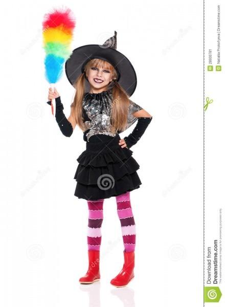 Little Girl In Halloween Costume Stock Image