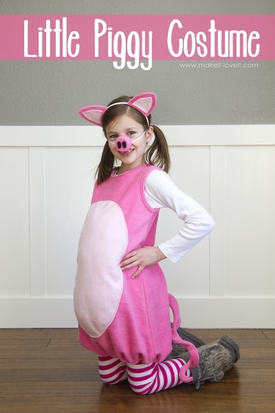 Little Pig Costume (with Ears And Snout) – Make It And Love It