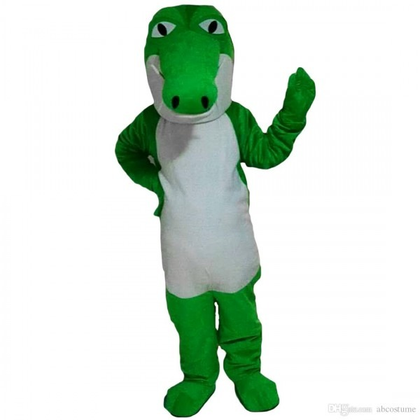 Lovely New Green Crocodile Mascot Costumes Cartoon Adult Size
