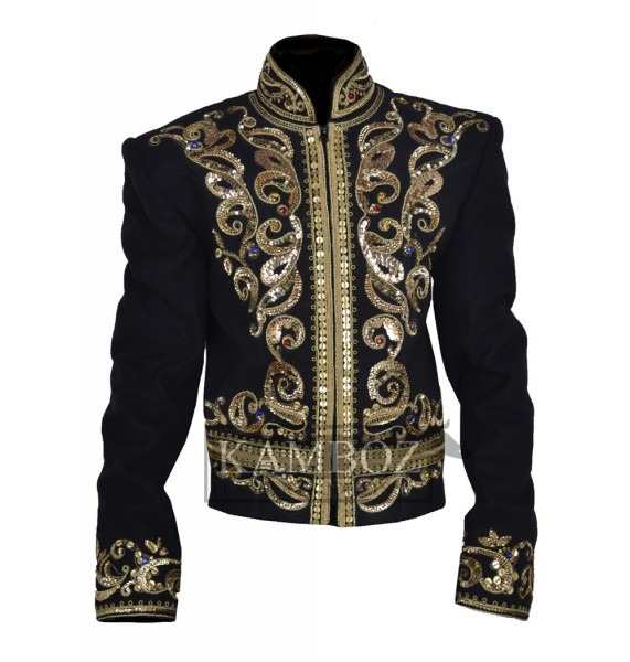 Military Style Jacket, Black Military Style Jacket, Military