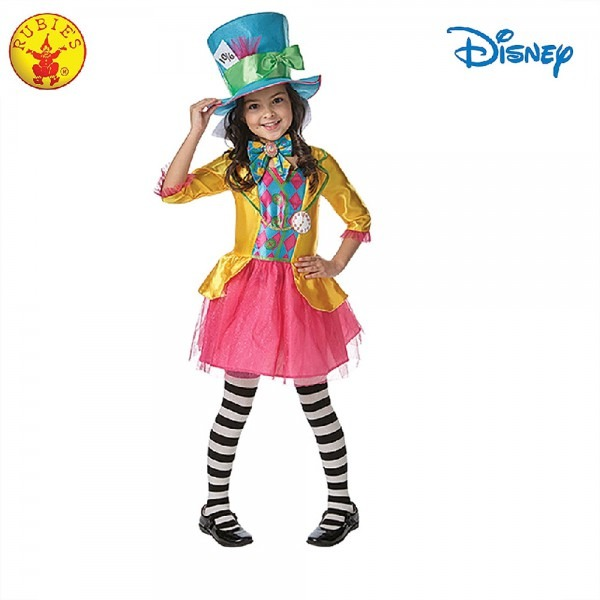Alice In Wonderland Girls Mad Hatter Book Week Character Costume S