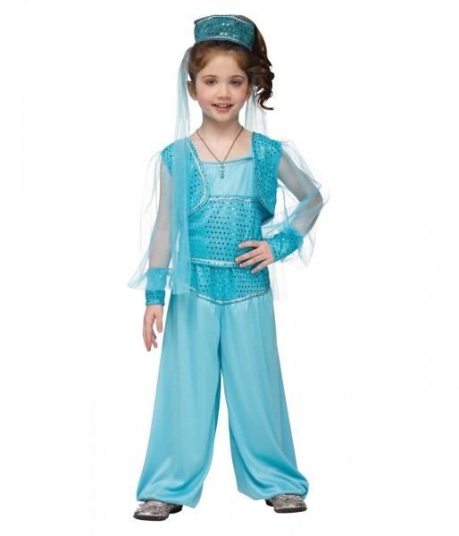 Little Girls Disney Jasmine Inspired Genie Halloween Costume