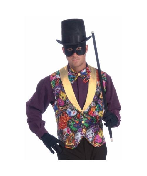 Adult Mardi Gras Costume Halloween Kit