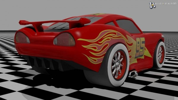 Lightning Mcqueen 3d Model From Creativecrash Com