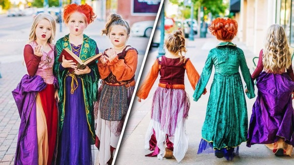 Sisters Dress As 'hocus Pocus' Witches In Annual Trio