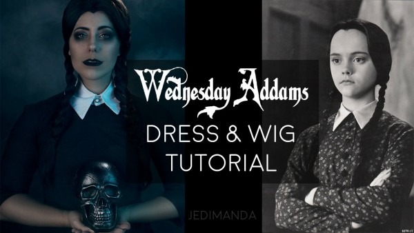 Wednesday Addams Dress And Wig Tutorial