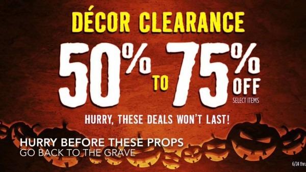 Spirit Halloween Decor Clearance Sale Huge Savings (50