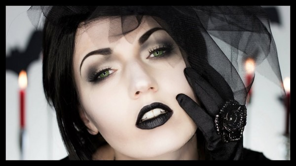 Black Widow Victorian Ghost Halloween Makeup