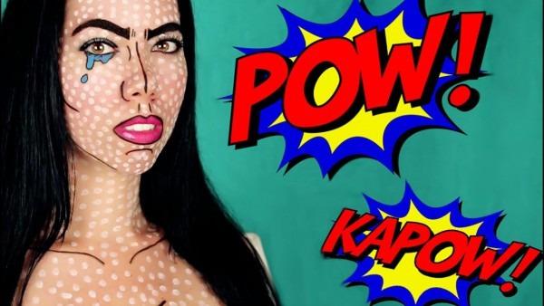 Pop Art   Comic Book Makeup Tutorial I Easy Halloween Costume
