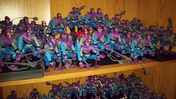 Huge Teenage Mutant Ninja Turtles Foot Soldier Collection Toy Room