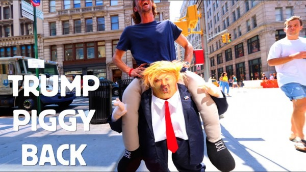 Riding Donald Trump Costume