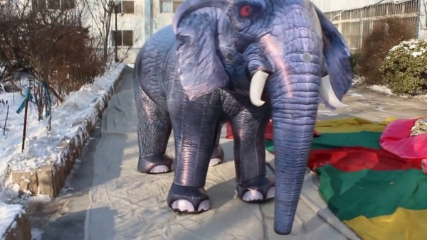 Inflatable Elephant Walking Costume For Adults