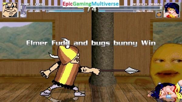 Elmer Fudd And Bugs Bunny Vs Wonder Woman And The Annoying Orange