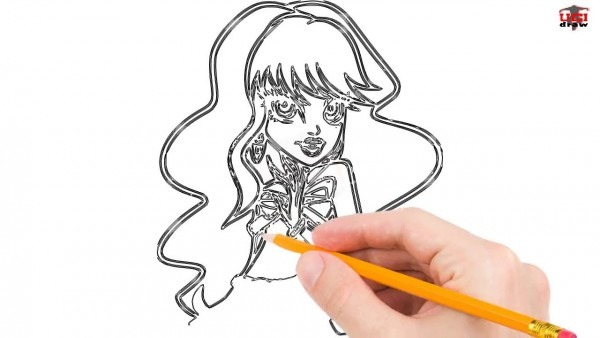 How To Draw Monster High Step By Step Easy For Beginners