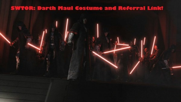 Swtor  Darth Maul Costume And Referral Link!