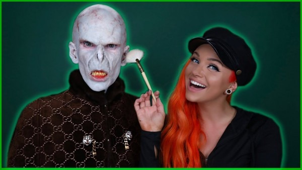 Lord Voldemort Makeup Transformation Feat  Glam&gore