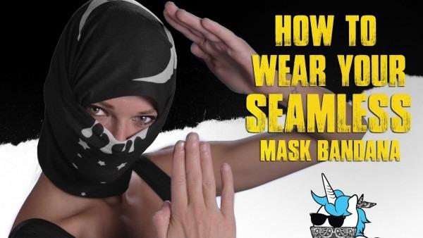 How To Wear Your Seamless Mask Bandana [iheartraves Com]