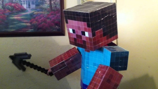 How To Make A Minecraft Steve Full Sized Costume Part 10