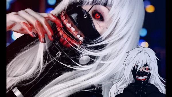 ☆ Female Kaneki Cosplay Makeup Tutorial Tokyo Ghoul 東京喰種